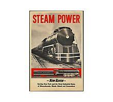 Steam Power Train Vintage Art Photographic Print