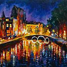THOUGHTFUL  AMSTERDAM by Leonid  Afremov