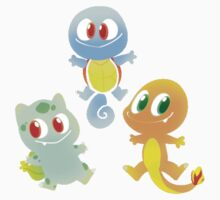 Baby Pokemon Kanto Starters by Pokerus