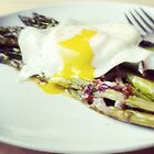 Asparagus Topped With Egg by jedesigns