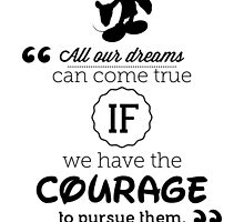 Disney Quote Poster by AridDesigns