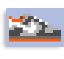 8-bit Kicks (Pigeon) Canvas Print