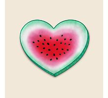 Summer Love - Watermelon Heart Photographic Print