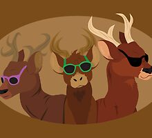 Deer with Sunglasses by thekohakudragon