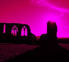 Whitby Abbey, Purple by VonRooke