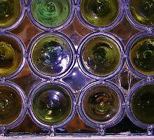 Bottle Bottom Window by lezvee