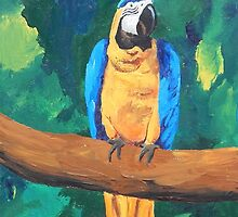 Blue Yellow Macaw Parrot - iPhone iPod iPad by PhoneCase