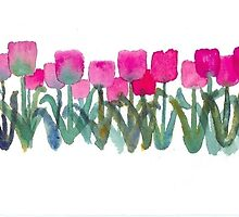 Tulips Grove by Roseann Meserve