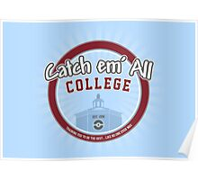 Catch 'em All College Poster