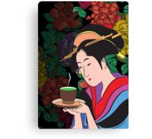 Green tea. Canvas Print