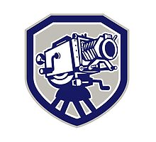 Movie Film Camera Vintage Shield by patrimonio