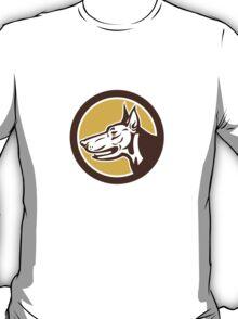 Doberman Pinscher Head Circle Retro T-Shirt