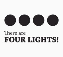 There are FOUR LIGHTS! (Black Ink) Kids Clothes