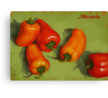 Mini Peppers Mini Painting Canvas Print