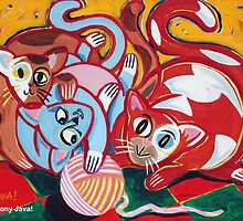 'Kitties at Play' by Jerry Kirk
