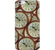 Vintage clocks pattern iPhone Case/Skin