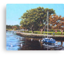 Sailing Boats and Yachts on the River Stour Christchurch Canvas Print