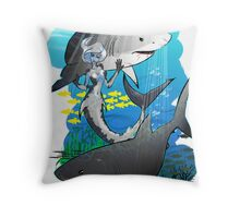 GreatWhites Throw Pillow