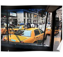 New York Taxi Cabs Poster
