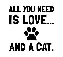 Love And A Cat Photographic Print