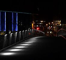 Leeds ~ Granary Wharf Bridge by Night by richman