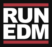 RUN EDM (RUN DMC Parody) White Ink by FreshThreadShop