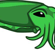 Green Cuttlefish by Noadi