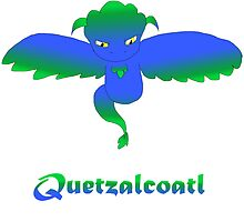 Open Wing Quetzalcoatl Blue by Mars714