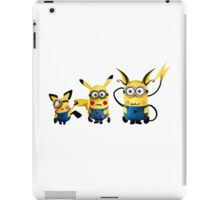 Pichu, Pika and Raichu minion iPad Case/Skin