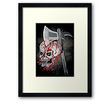 Bloody Monday Morning Feeling! Skull with Blood Drips Framed Print