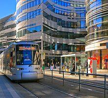 The new Jan Wellem Platz, Düsseldorf, NRW, Germany. by David A. L. Davies