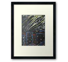 City Storm Framed Print