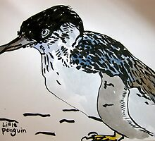 museum fairy penguin by Evelyn Bach