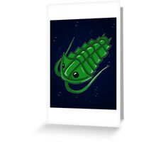 Green Trilobite Greeting Card