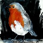 Robin Red Breast Wild Bird Acrylic Painting by JamesPeart