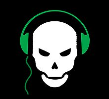 Skull Headphone by sakha
