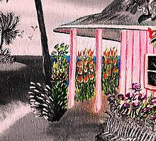 Pink Beach Ouse @ Nite by WhiteDove Studio kj gordon