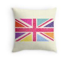 Pink Union Jack Throw Pillow