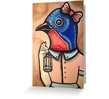 Blue Bird Babe Greeting Card