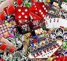 Collage of Las Vegas Icons   by Gravityx9