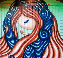 Fairy Graffiti Pillow by MMPhotographyUK