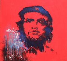 Abstract Che Guevara Painting by Susan Richter