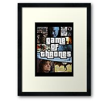 grand game of thrones  Framed Print