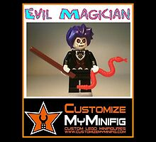 Customize My Minifig Collector Card 8 - Custom LEGO® 'Evil Magician' by Chillee