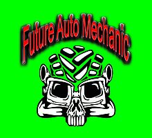 Auto Mechanic Skull Design by phnordstrm