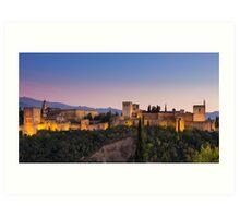 The Alhambra at Twilight Art Print