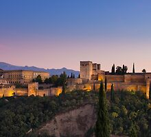 The Alhambra at Twilight by MichaelJP