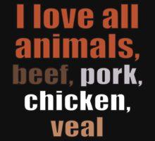 I Love all Animals by pixelman