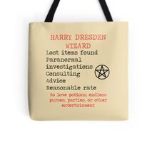 Harry Dresden Business Card Tote Bag