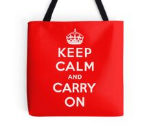 KEEP CALM AND CARRY ON (BLACK) Tote Bag